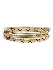 Set Of 6 Gold Metallic Bangles - By