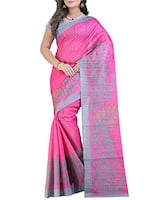 pink linen printed saree -  online shopping for Sarees