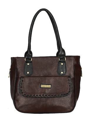 brown leatherette handbag -  online shopping for handbags