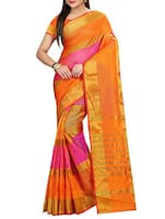 multi colored cotton striped woven saree -  online shopping for Sarees