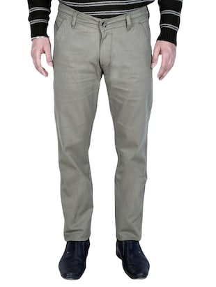 grey cotton chinos casual trouser