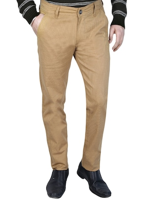 beige cotton chinos casual trouser