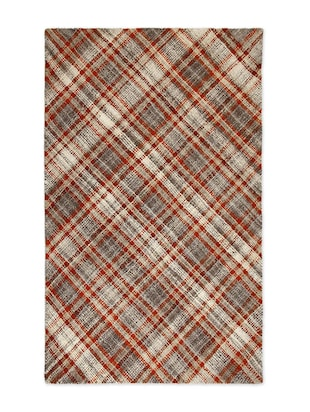 Red woolen checks carpet - 1294730 - Standard Image - 2