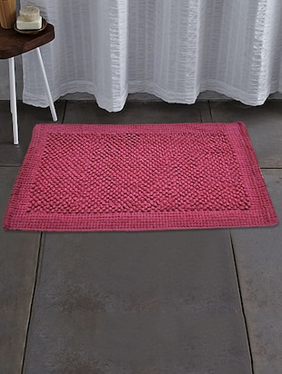 Tex N Craft Red Pure  Cotton Bathmat