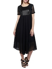 black polyester dress -  online shopping for Dresses