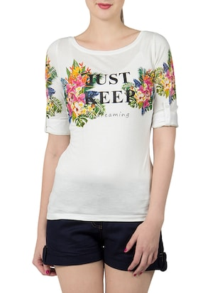 white viscose regular tee