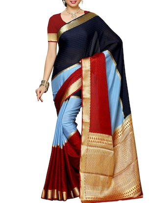Multicolored Mysore Silk Saree