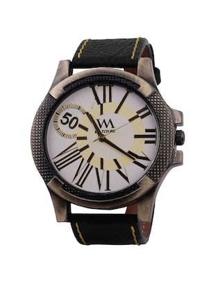 Watch Me White Men Genuine Leather Swiss Wrist Watch Watch Me-0066-Wx