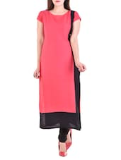 pink rayon Long kurta -  online shopping for kurtas