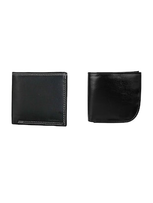black set of 2  leather wallet