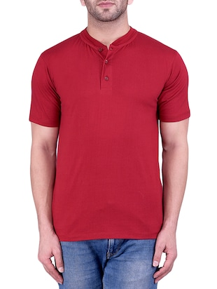 maroon cotton tshirt