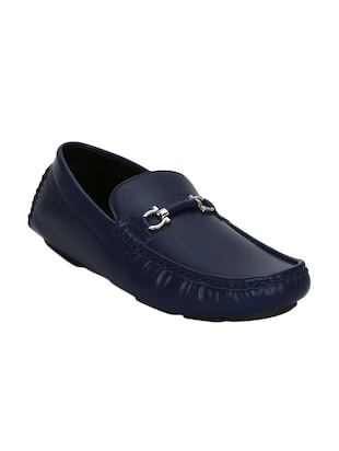 ca4f85846e0 Buy Blue Leatherette Slip On Loafer by Kielz - Online shopping for Loafers  in India
