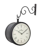 Black Metal Analog Clock - By