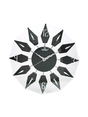 Black wooden Analog Clock