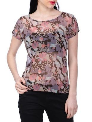 multi chiffon regular top