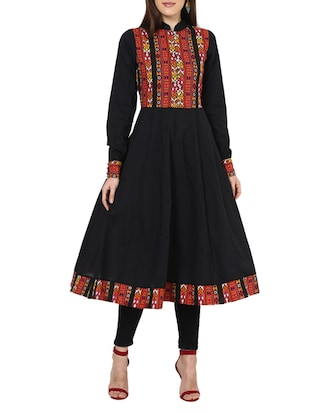 black cotton  plain anarkali
