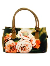 Multicoloured Printed Canvas Duffle Bag - By