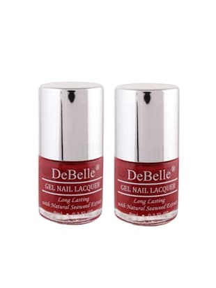 DeBelle Nail Polish Combo kit of 2 (Maroon)