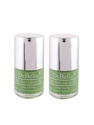 DeBelle Nail Polish Combo kit of 2 (Pastel Green)