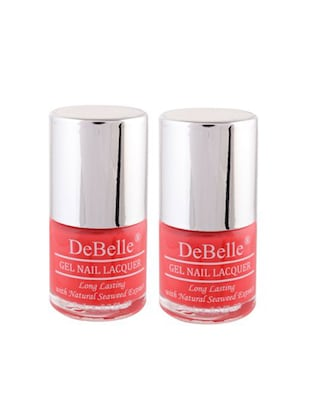 DeBelle Nail Polish Combo kit of 2 (Coral Orange)