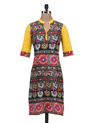 Multi Cotton Straight Kurta
