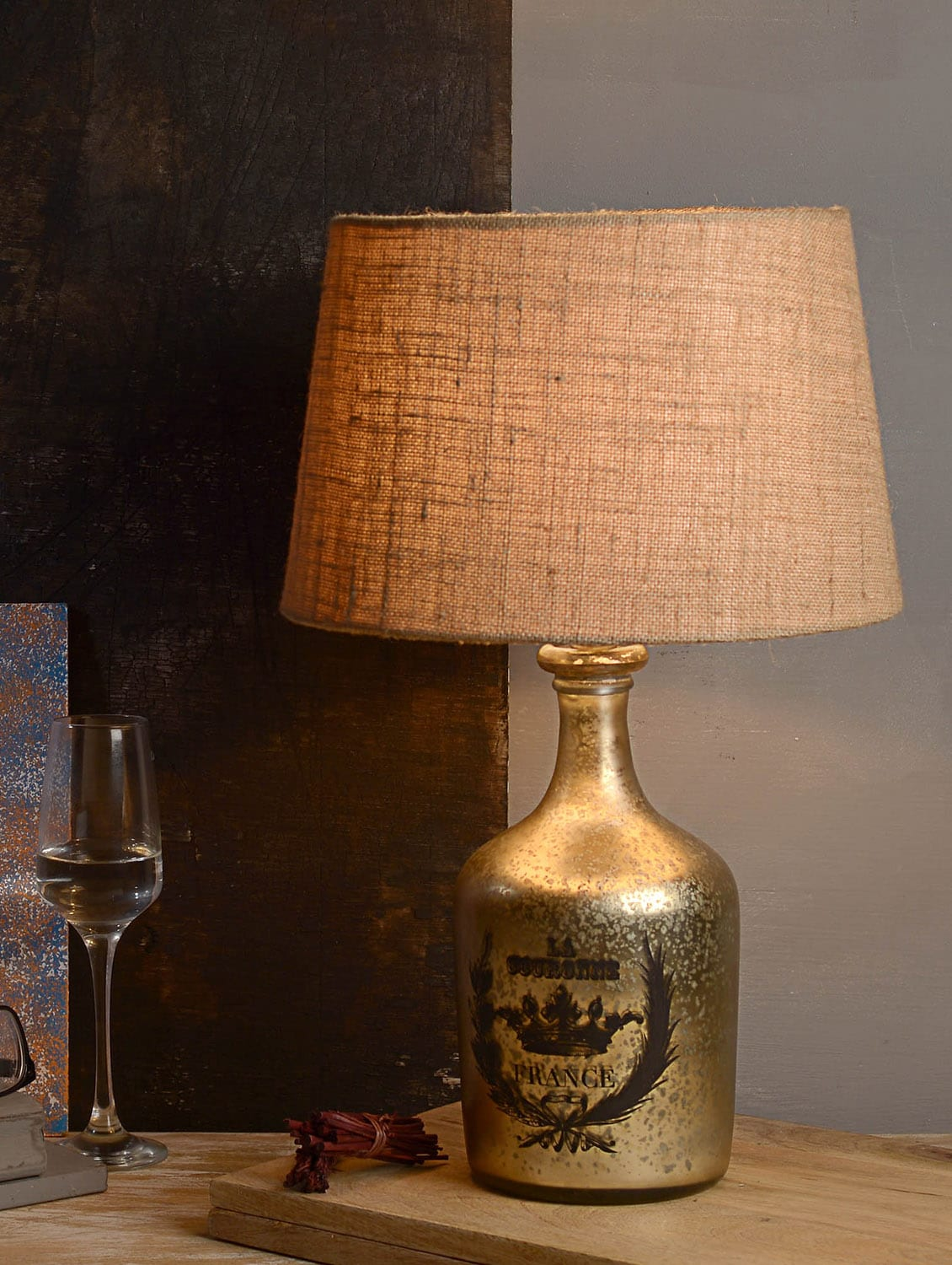 Buy silver cotton table lamp by fabuliv online shopping for explore this look hover over image to zoom geotapseo Image collections