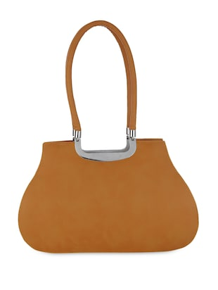 Orange Leatherette handbags.