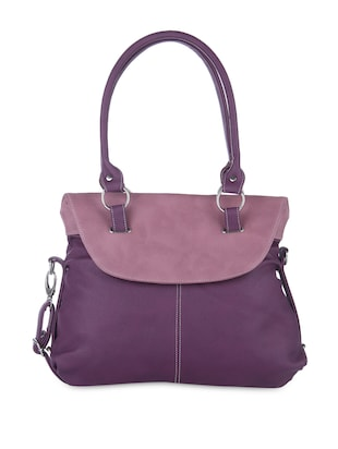 Purple Leatherette handbags.