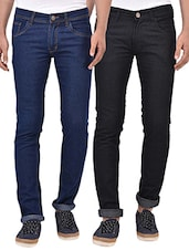 blue black set of 2 jeans -  online shopping for Jeans
