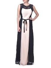 Black Georgette Maxi Dress - By