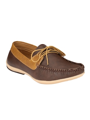brown leatherette lace up shoe -  online shopping for Shoes