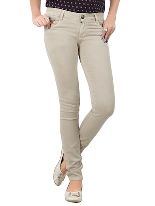 beige denim jeans