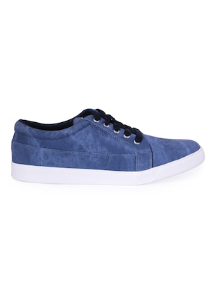 blue Denim lace up sneaker - 13066941 - Standard Image - 2