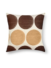Multicolored Velvet Polka Dotted Cushion Cover - By