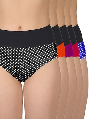 set of 5 multicolored cotton panties - 13081662 - Standard Image - 11