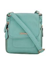 green synthetic leather sling bag -  online shopping for sling bags