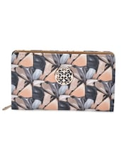 Pink Printed PU Leather Clutch - By