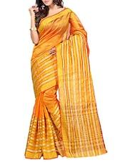 Gold Silk Saree - By