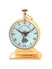 Brown Brass Table Clock - By