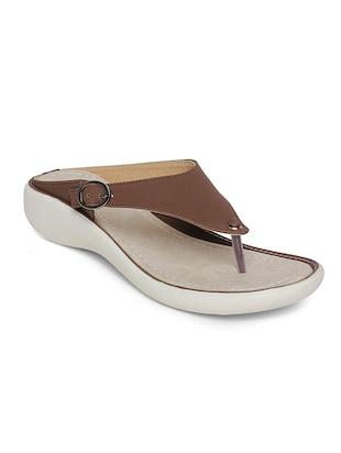 brown open thong slippers  Online Shopping for Flip flops