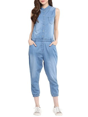 blue denim 34  jumpsuit