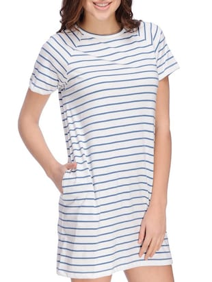 white striped jersey dress