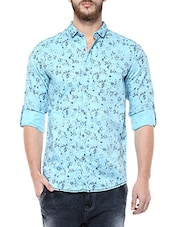Mufti Mens Sky Mid Rise Slim Fit Casual Shirts -  online shopping for casual shirts