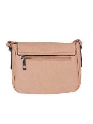 Beige Leatherette Sling Bag 13125031 Standard Image 2