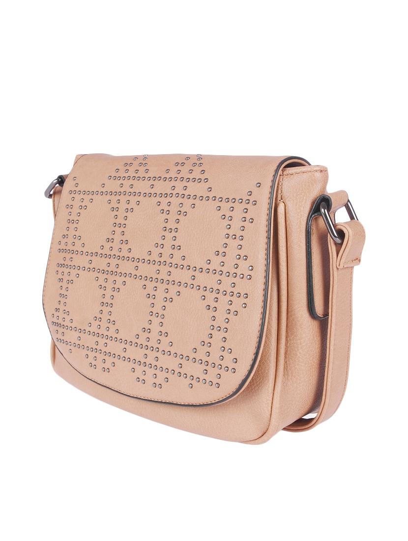 Beige Leatherette Sling Bag 13125031 Zoom Image 5