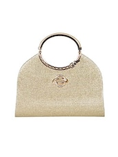 gold leatherette structured clutch -  online shopping for clutches