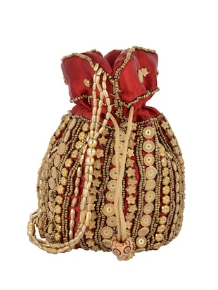 red silk potli -  online shopping for Potlis