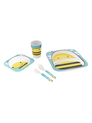 TRUENOW Ventures Pvt. Ltd.  Melamine Dinnerware set   Set Included 2 Plates ,1 Glass,1 Spoons and 1 Fork