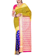 yellow silk kanjivaram saree -  online shopping for Sarees
