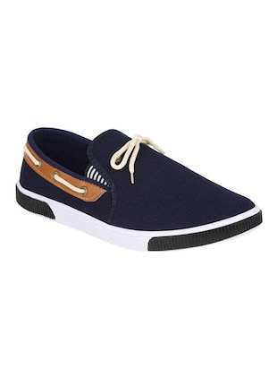 navy Canvas casual slipon